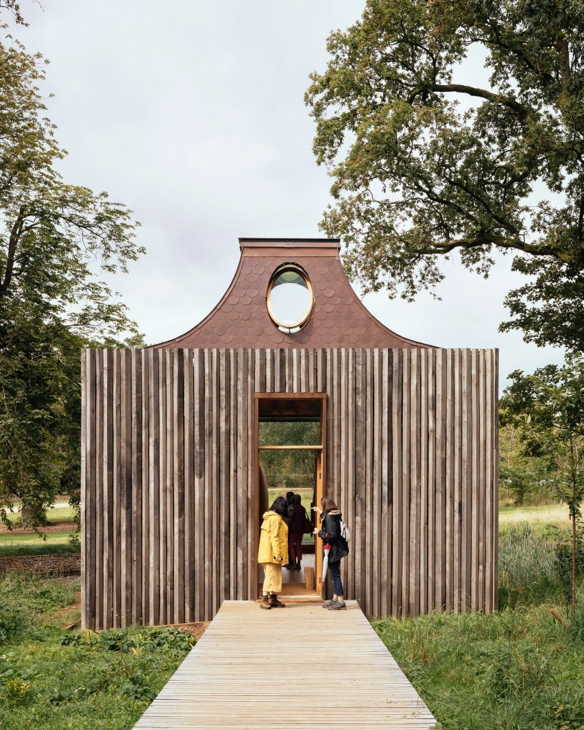 Entrance to The Beezantium by Invisible Studio at The Newt in Somerset