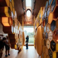 Roof window in The Beezantium by Invisible Studio at The Newt in Somerset