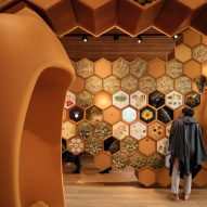 Exhibition design for The Beezantium by Invisible Studio at The Newt in Somerset