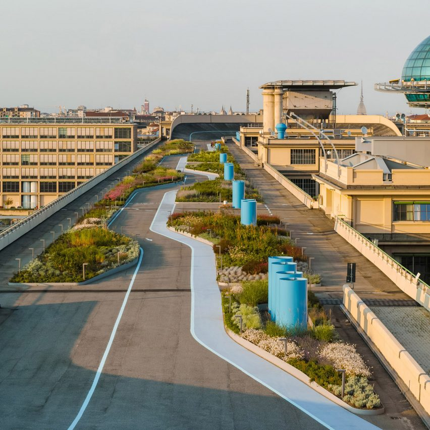 Garden added to Fiat's Lingotto building rooftop test track