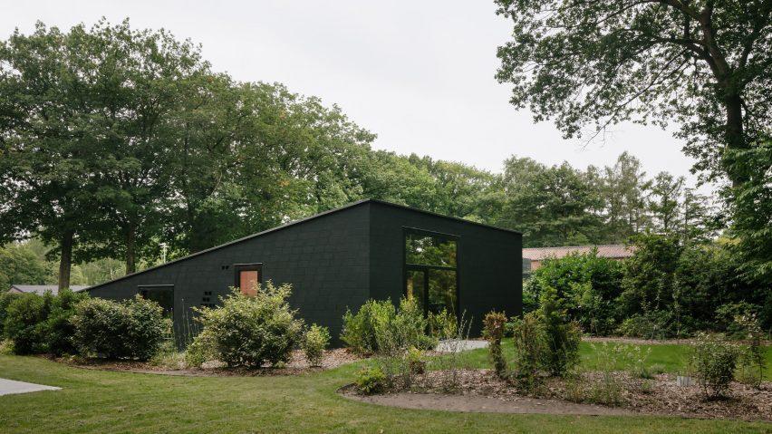 Black brick house in Belgium