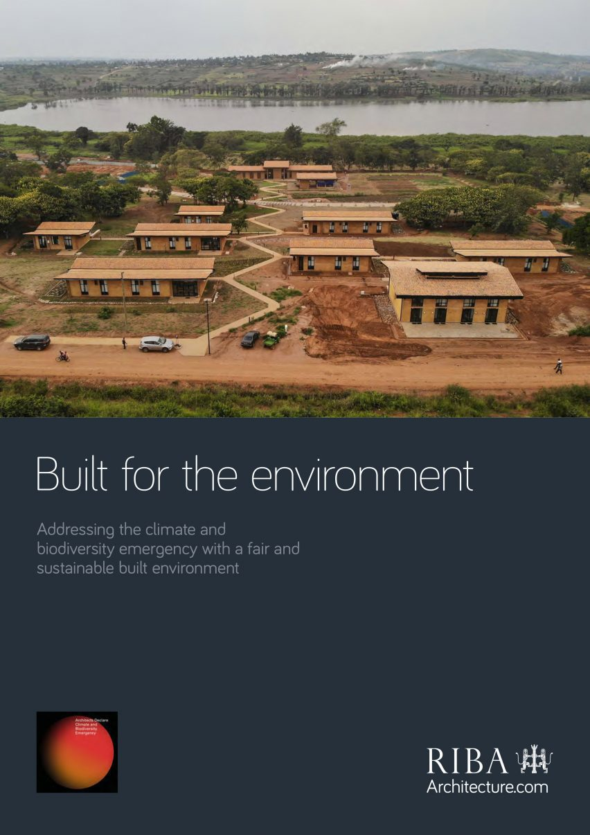 The Built for the Environment climate report cover