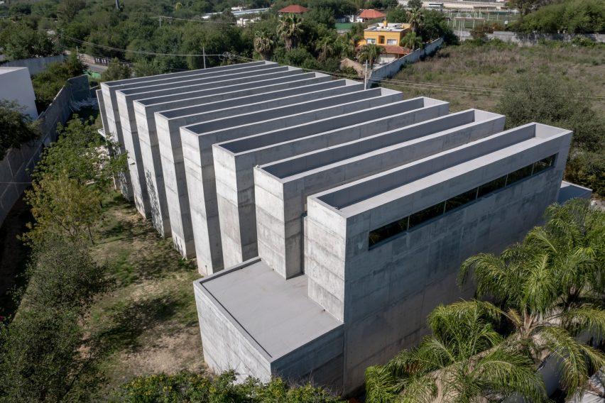 Grey stone chapel in Mexico