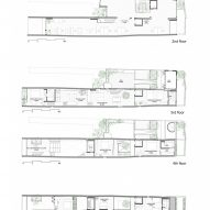 Floor plans of CH House by ODDO Architects