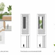 Elevation concept for CH House by ODDO Architects
