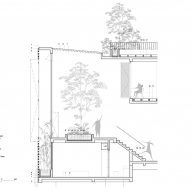 Cross section detail of CH House by ODDO Architects