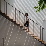 Staircase in CH House by ODDO Architects