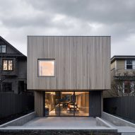The back of Courtyard House in Vancouver by Leckie Studio