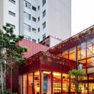 Exterior of Dengo Chocolate shop in São Paulo, Brazil