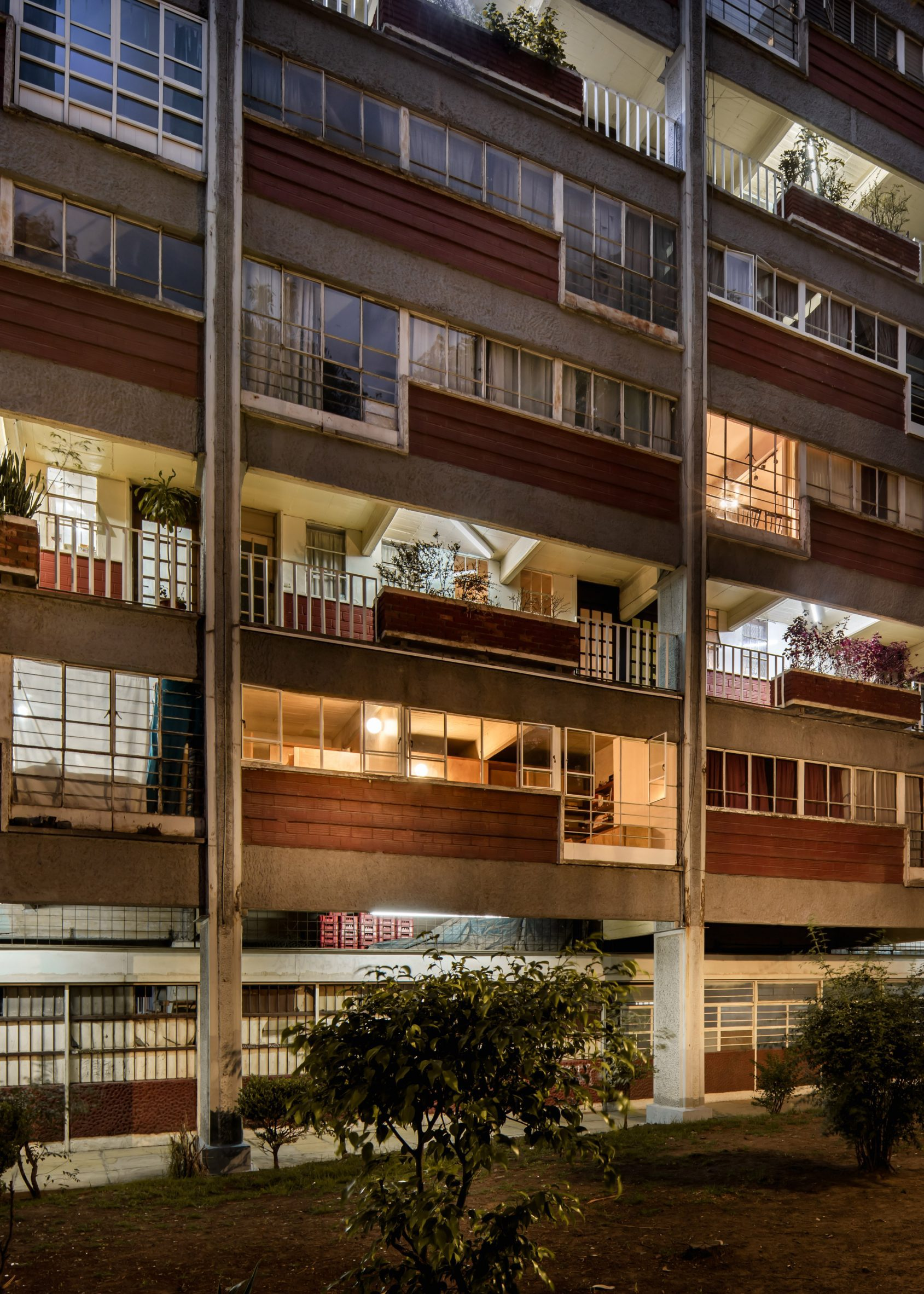 Apartment building in Mexico City