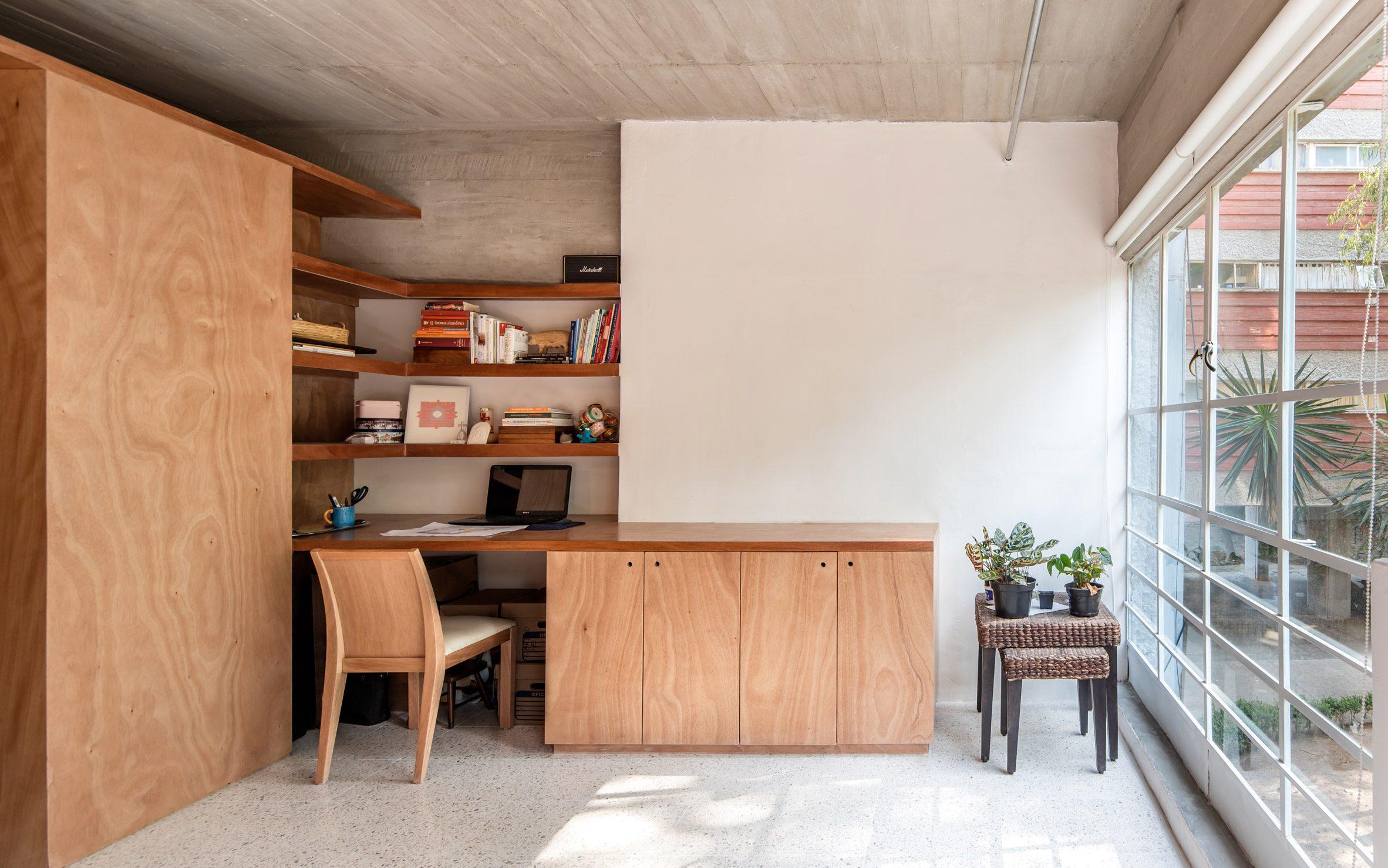 Built-in storage furniture by Escobedo Soliz