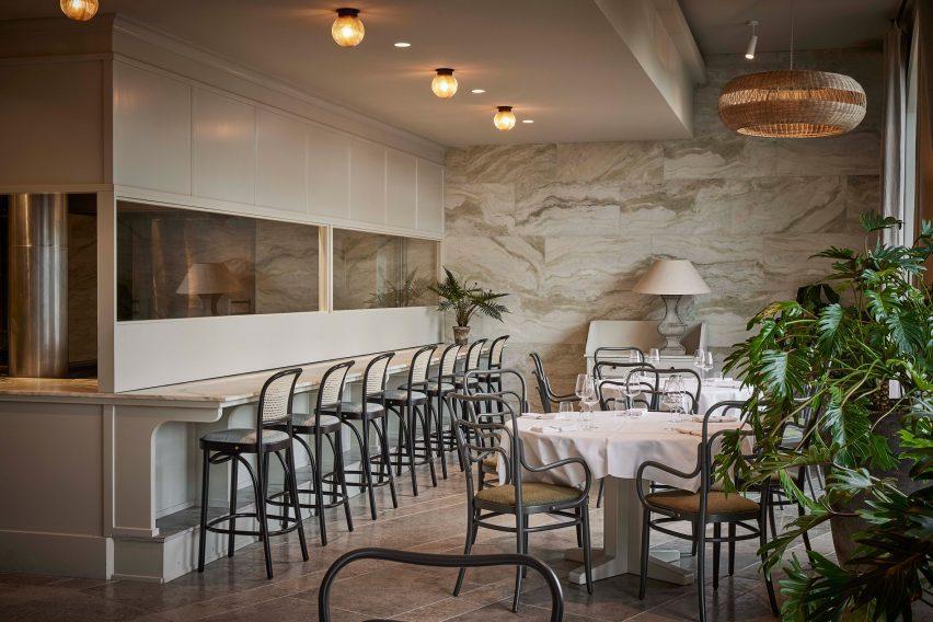 Dining room in Esmée restaurant by Space Copenhagen