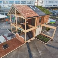 House built from 100 different plant-based materials unveiled at Dutch Design Week