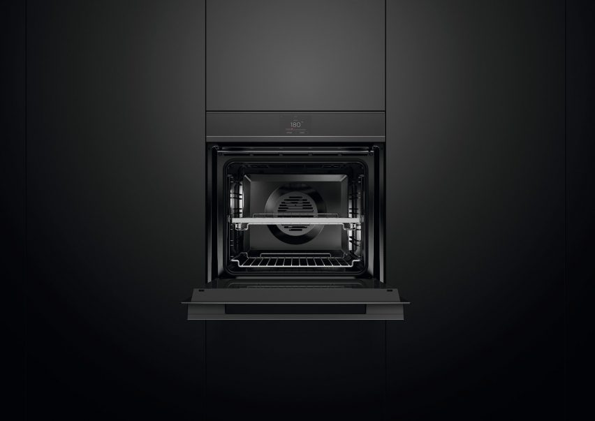 Fisher & Paykel's touch screen oven in black