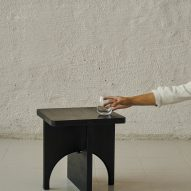 Aspekt side table by Tobias Berg at Ny Normal exhibition by Fold Oslo