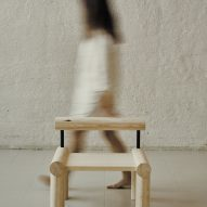 Kvarv pine lounge chair by Kathrine Hovind at Ny Normal exhibition by Fold Oslo