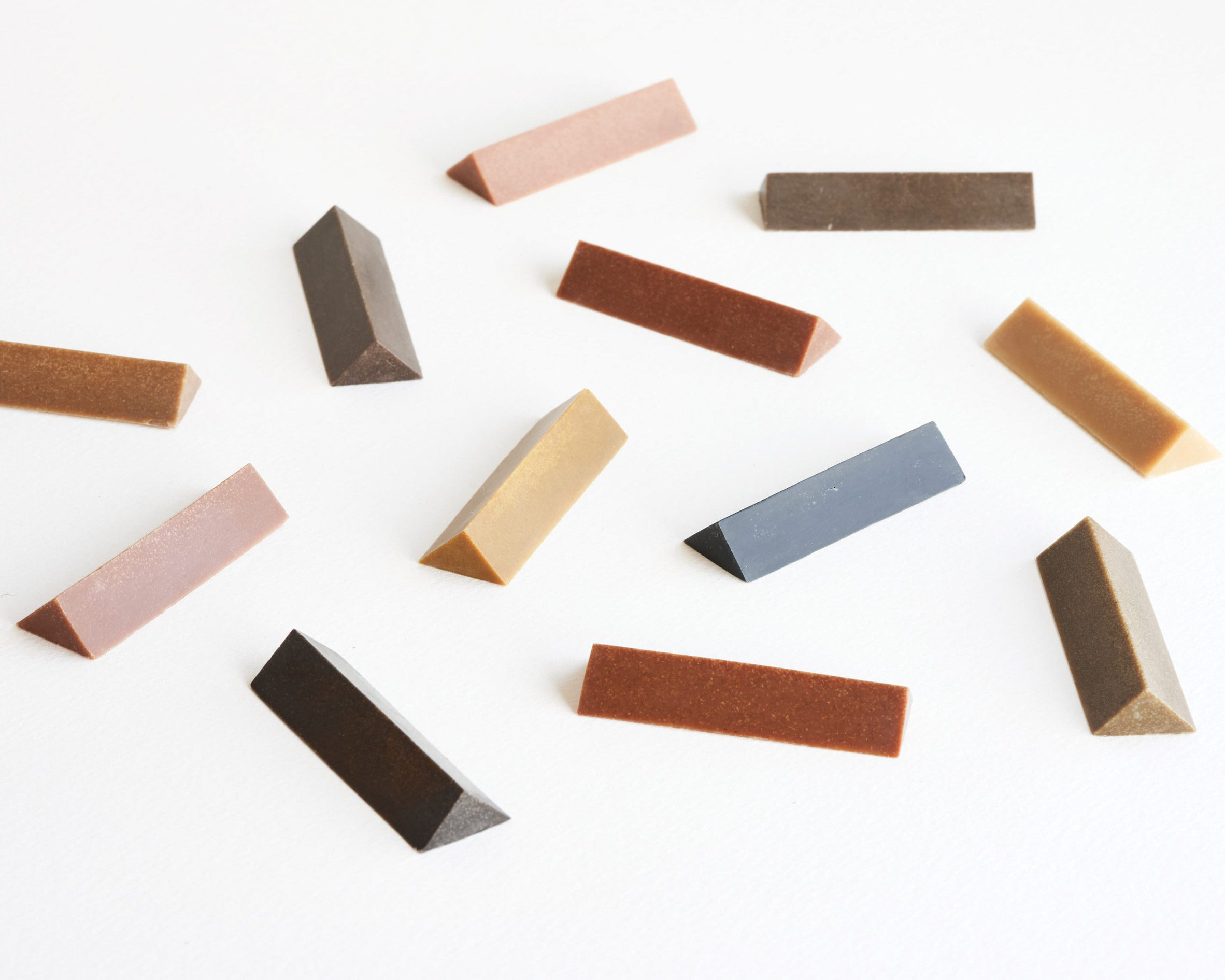 Coloured wooden crayons