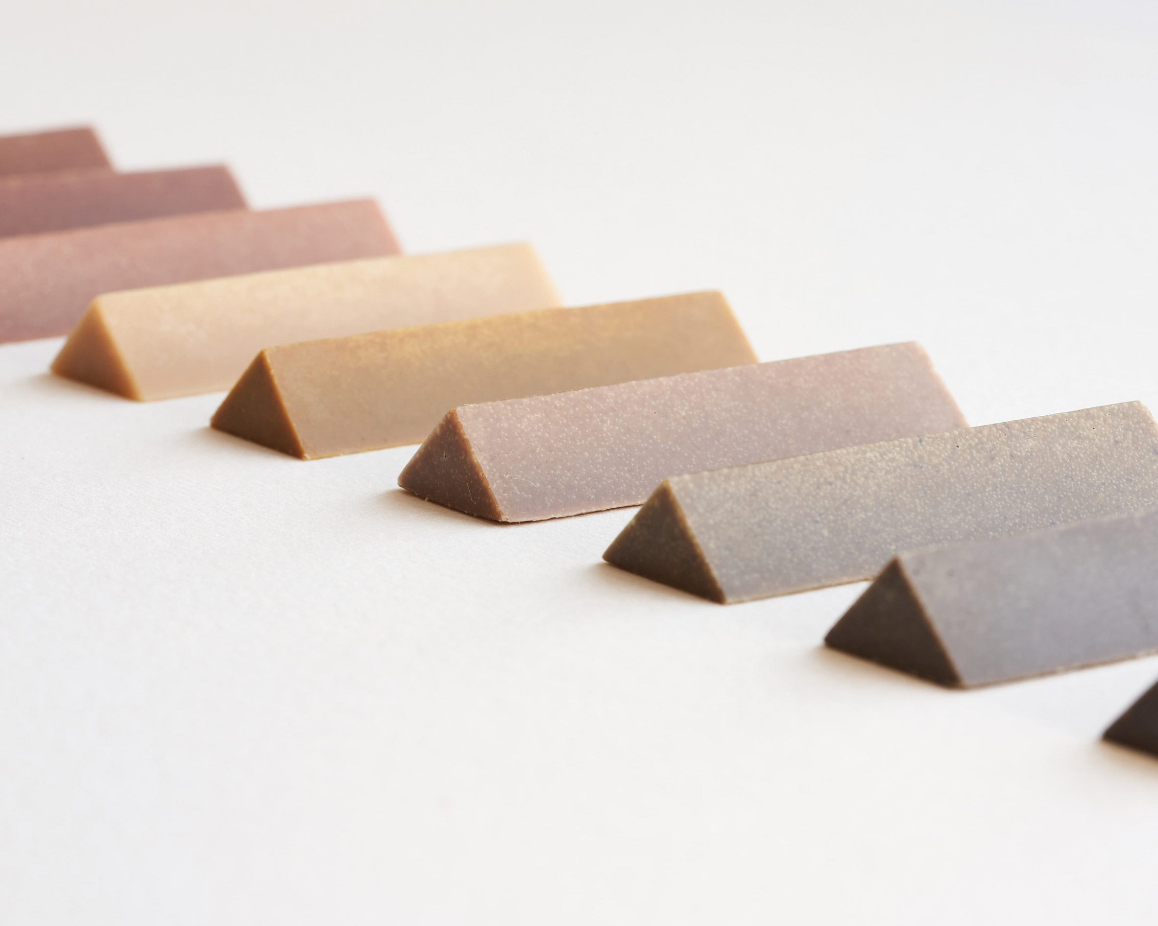 Triangular-shaped crayons