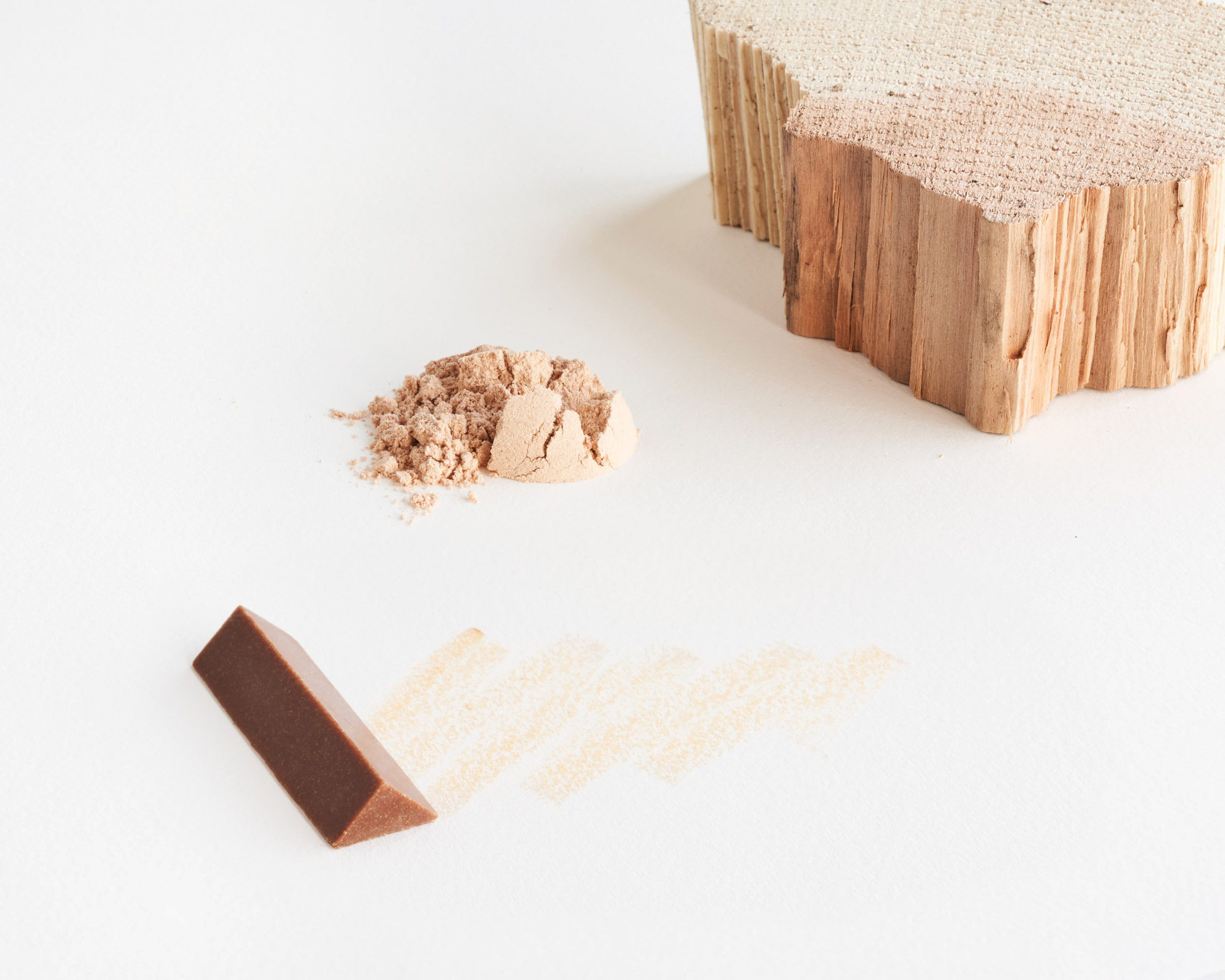 Finely-ground wood