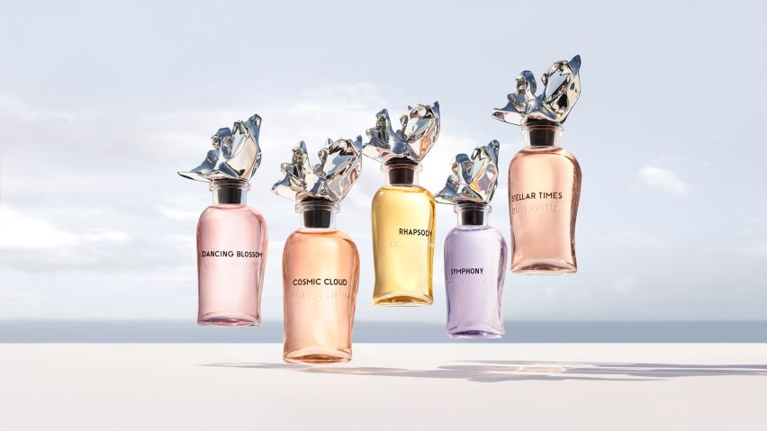 Les Extraits perfume bottle collection designed by Frank Gehry forLouis Vuitton