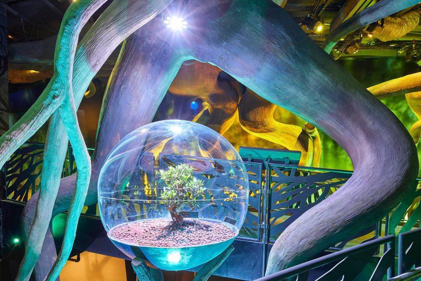 Exhibition inside Sustainability Pavilion