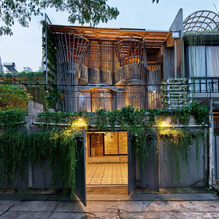 RAW Architecture uses bamboo to build Guha studio extension in Jakarta