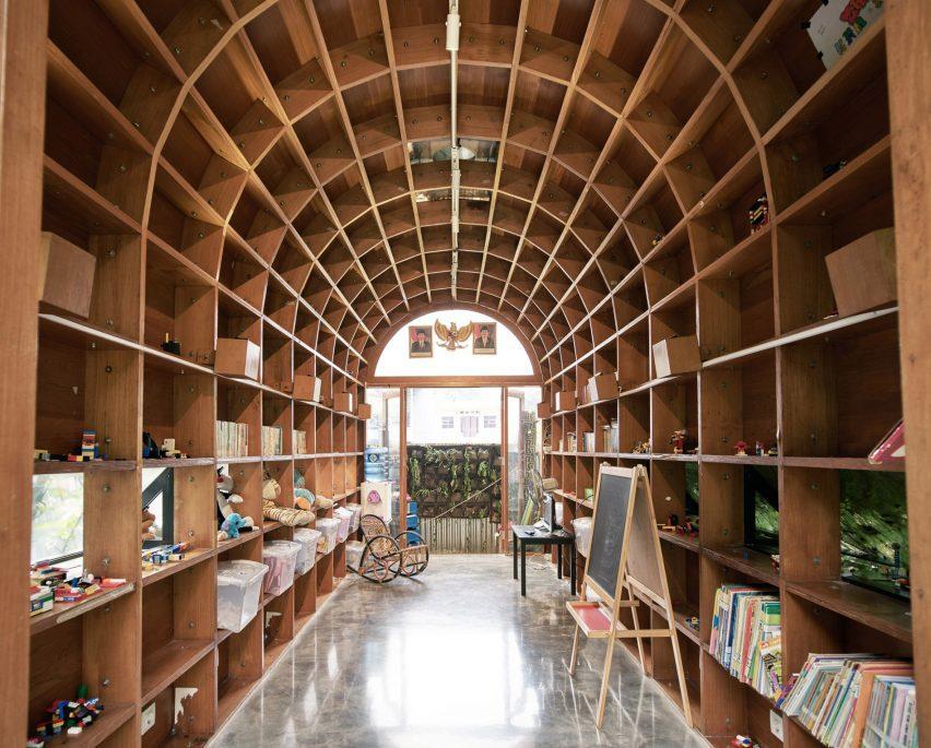 Bamboo interior of Guha project