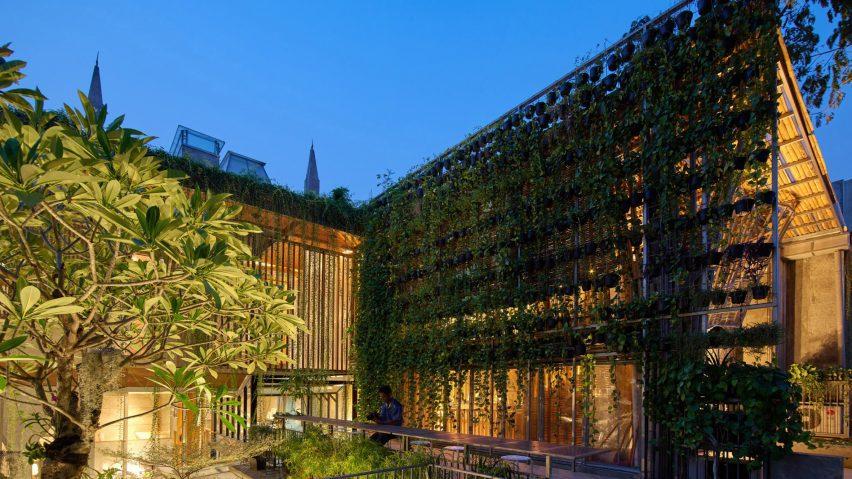 Bamboo building in Jakarta