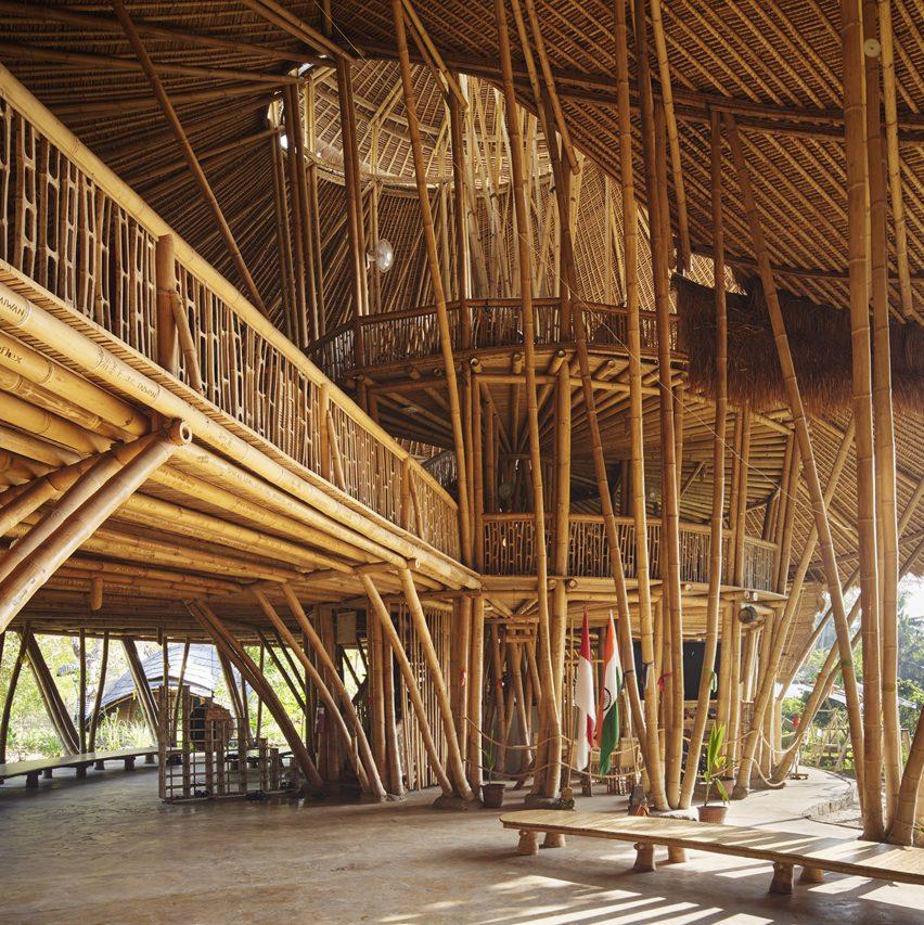 Bamboo school in Bali