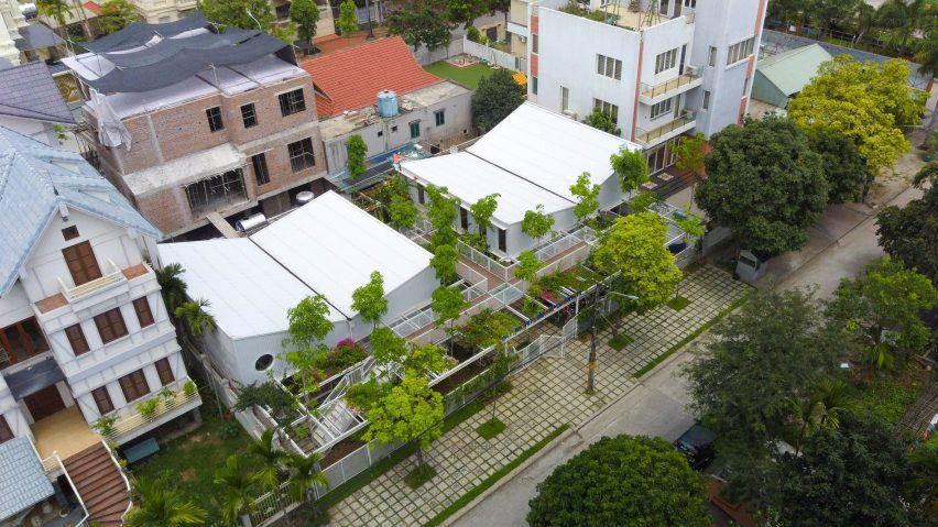 Aerial view of the school by HGAA