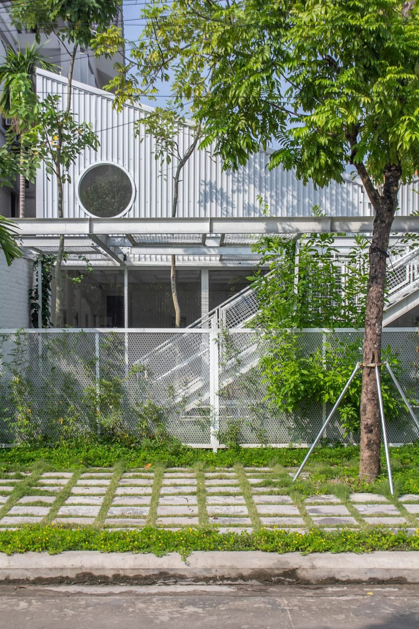 Sloped roofs and circular windows characterise My Montessori Garden