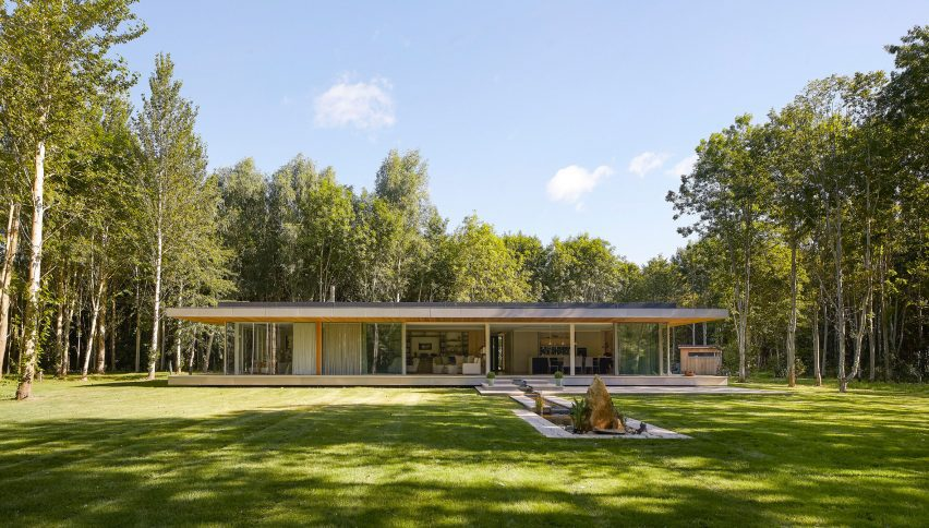 Glass facade of House in The Lakes by Yoo, by Broadway Malyan