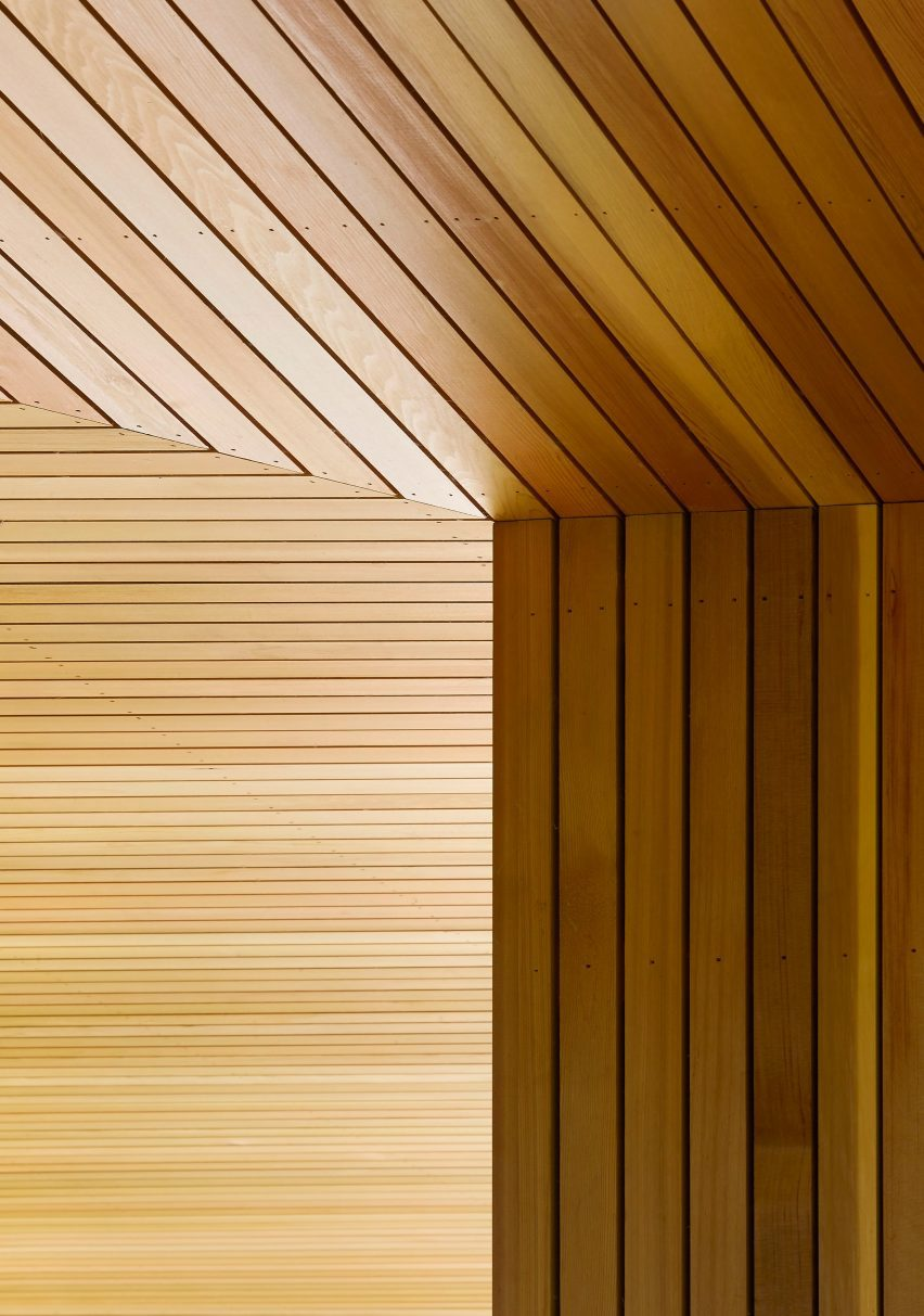 Wooden detail of House in The Lakes by Yoo, by Broadway Malyan