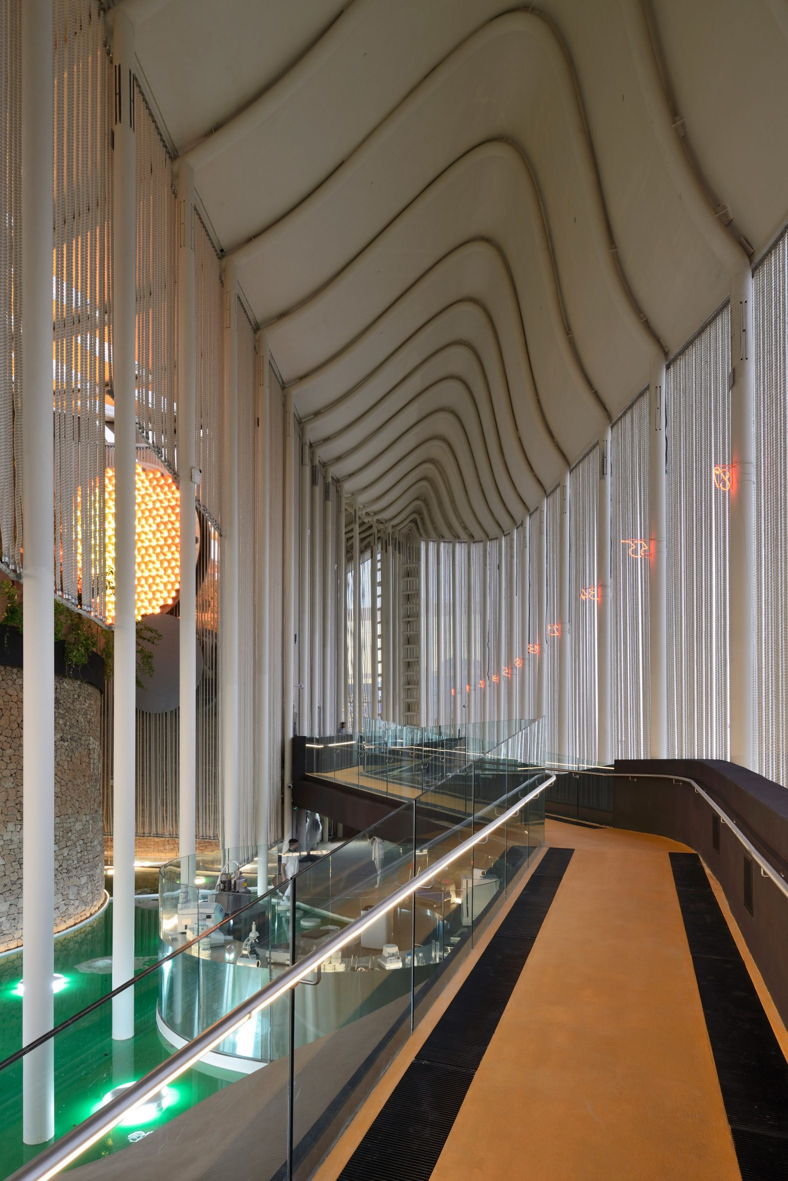 Interior of Italy Pavilion at Dubai Expo