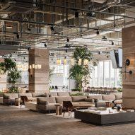 "Flooat creates ""fluctuating landscape"" inside publishing office near Tokyo"