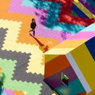 "Lakwena Maciver paints a ""vision of paradise"" on the roof of London tube station"