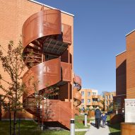 Saia Barbarese Topouzanov adds spiral staircases during Montreal housing renovation