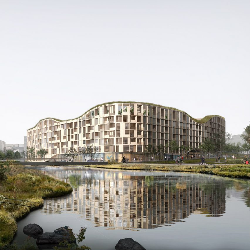 """""""Largest wooden building in Iceland"""" to occupy landfill site in Reykjavík"""