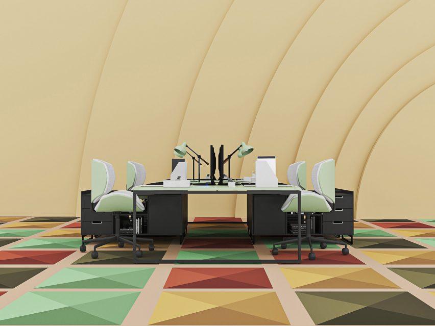 Karpet Multi Warna Loggia oleh Talk Carpet