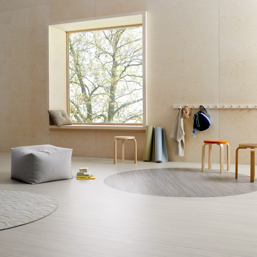 Marmoleum Linear linoleum flooring by Forbo