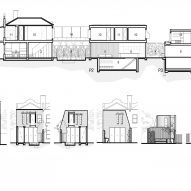 Fitzroy Bridge House section and elevations
