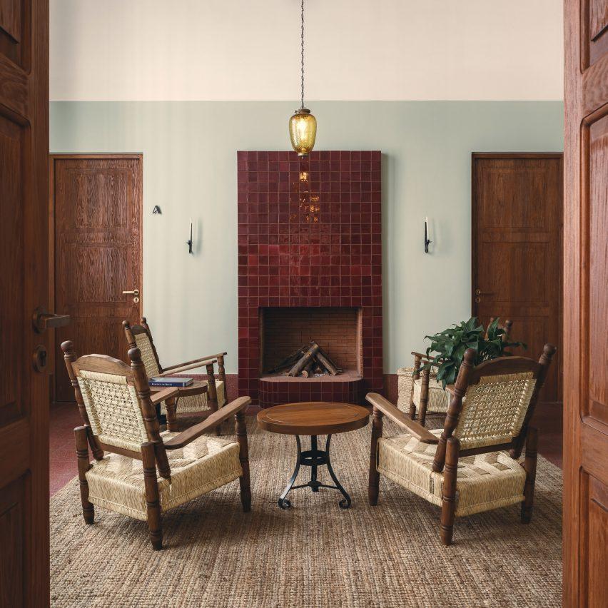 Interiors draw upon local culture
