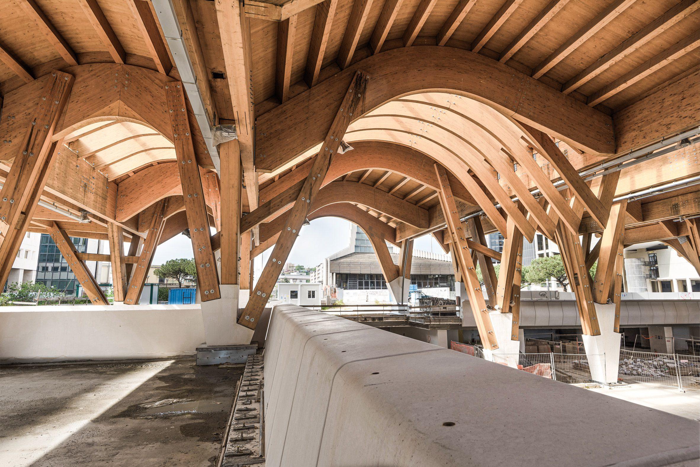 Wooden railway arches