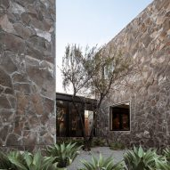 Stone-clad cubes form tequila distillery offices in Jalisco by 1540 Arquitectura