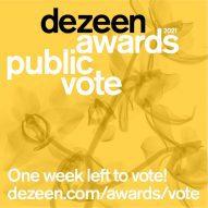 Vote now! Dezeen Awards 2021 public vote closes in one week