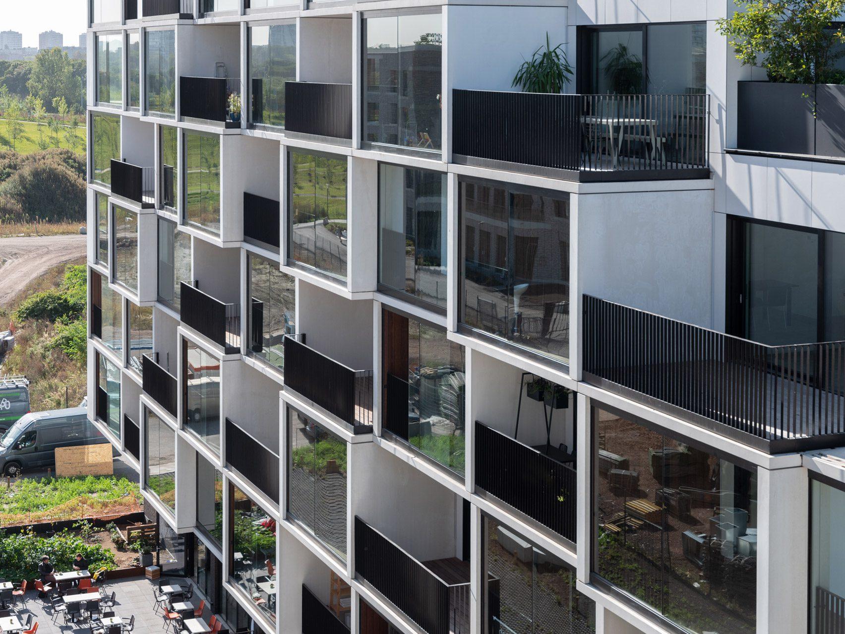 Balconies of Palazzo Verde housing