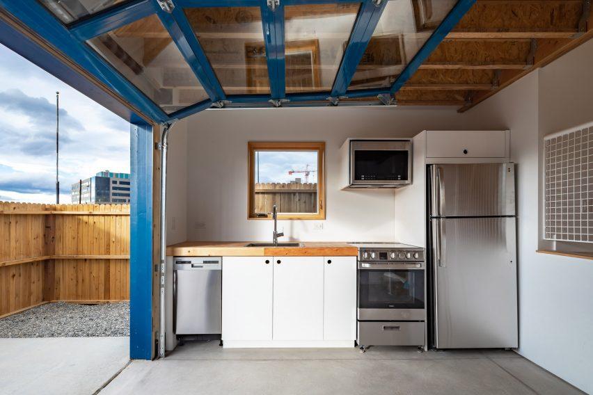 Neutral kitchen interiors