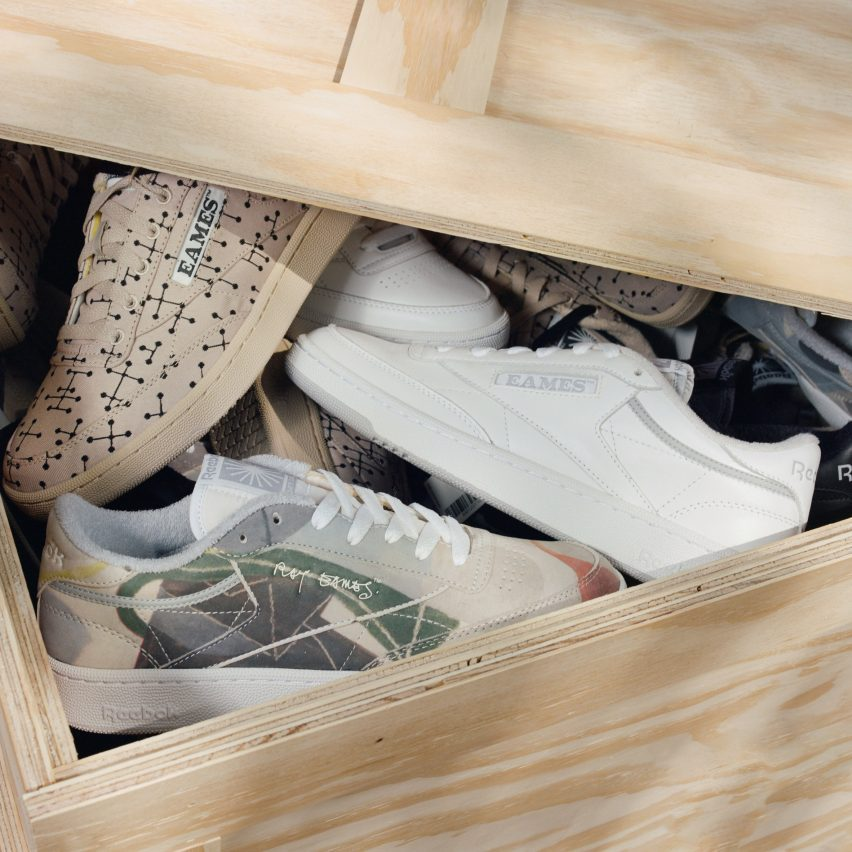 Trainers designed by Reebok and Eames Office