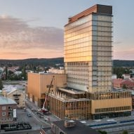 "White Arkitekter unveils ""carbon negative"" skyscraper and cultural centre in Sweden"