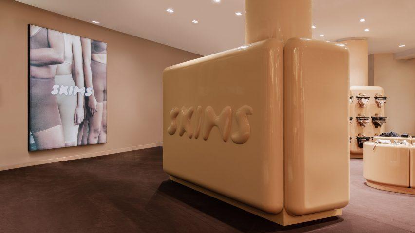 SKIMS underwear store in Paris, France designed by Willo Perron